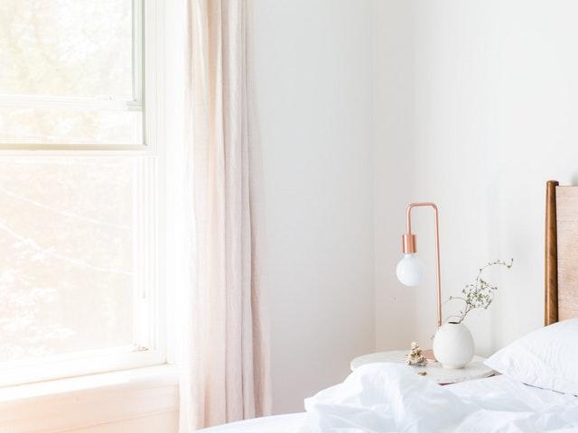 En snygg modern lampa